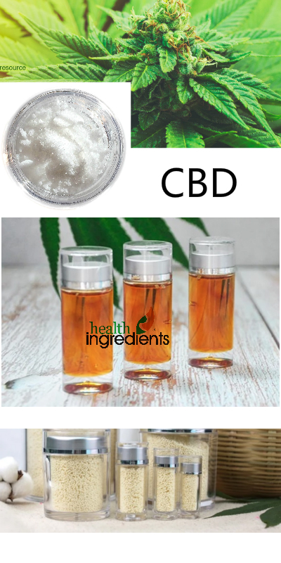 CBD from RDHealthIngredients, Only Source, Industrial Hemp, Licensed Factory, NOTHC! We can supply super pure Cannabidiol Isolate (CBD),  Hemp Oil, Full Spectrum (CBD Oil) with sunflower oil, and water soluble